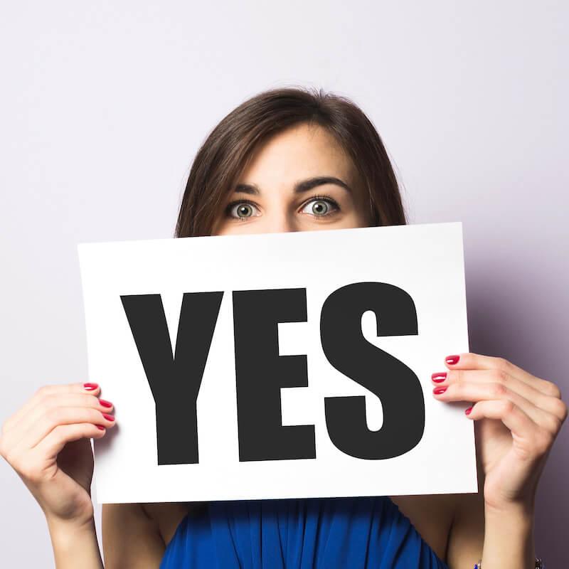 customer says yes